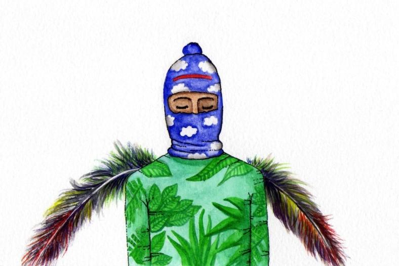 Volaron encapuchados de cielo, vestidos de selva-internet