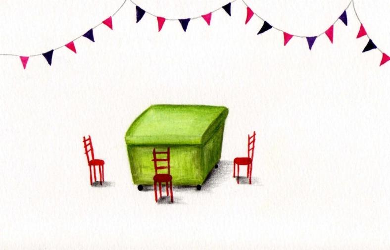 El festín del contenedor verde