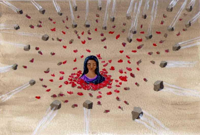 Piedras y flores - internet