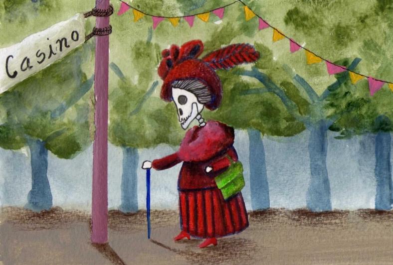 Doña casposa calavera - internet