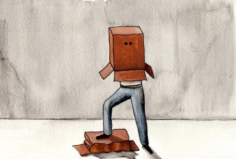 Cabeza de cartón - internet