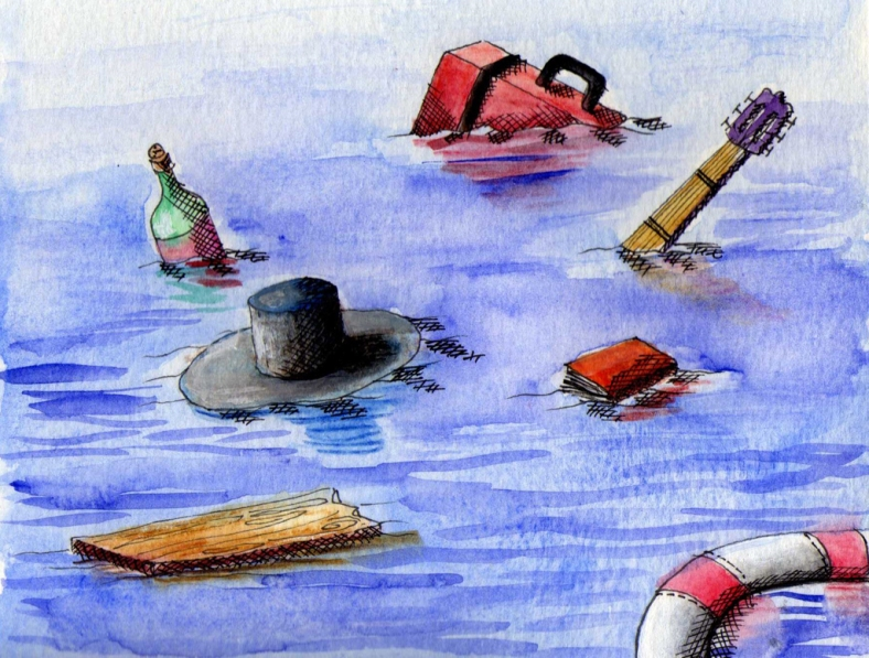 Los restos del naufragio - internet