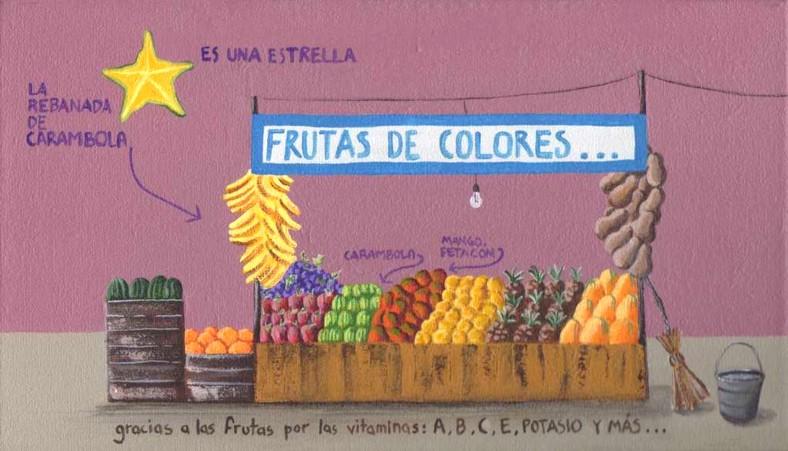 Frutas con vitaminas y estrellas_internet