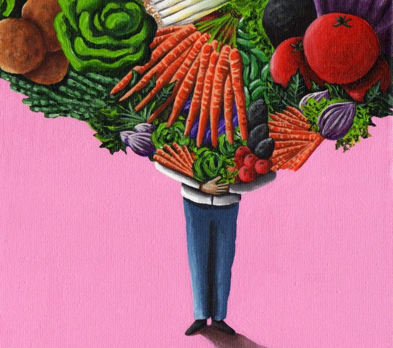De frutas y verduras hasta la cabeza - para Boreal - internet