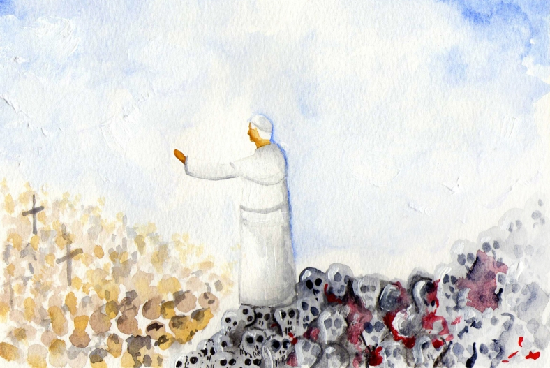 El Papa habló sobre cadáveres
