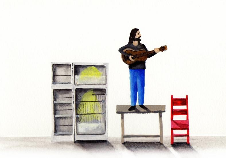 Artistas solidarios con la nevera vacía - internet