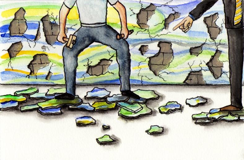 Destruyendo murales